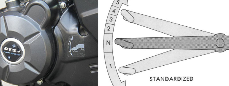 Why 1 Down 4 Up gear shift pattern? One down four up gear